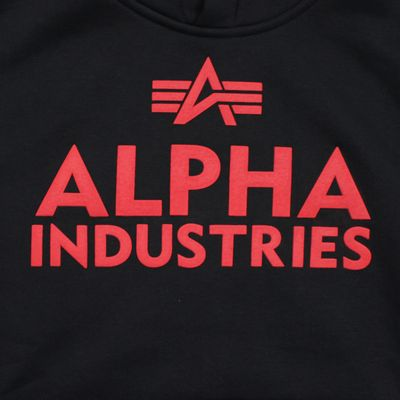 Alpha Industries Sweatshirt FOAM PRINT HOODY black – Bild 3