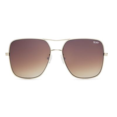 Quay Australia Damen Sonnenbrille STOP AND STARE gold/brown – Bild 2