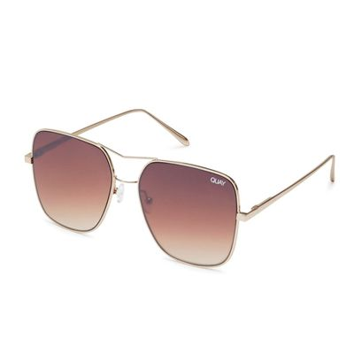 Quay Australia Damen Sonnenbrille STOP AND STARE gold/brown – Bild 3