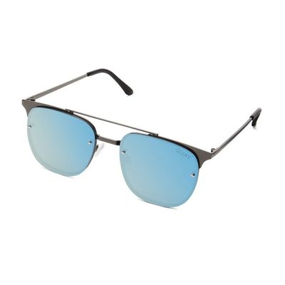 Quay Australia Damen Sonnenbrille PRIVATE EYES gun/blue – Bild 1