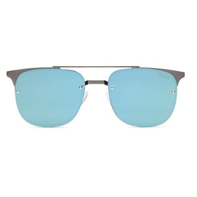 Quay Australia Damen Sonnenbrille PRIVATE EYES gun/blue – Bild 2