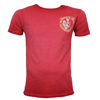 Yakuza Premium T-Shirt VINTAGE 204 red washed – Bild 2