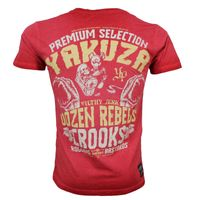 Yakuza Premium t-shirt vintage 204 red washed 001