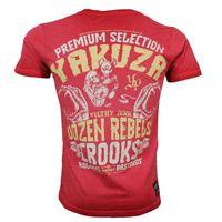 Yakuza Premium T-Shirt VINTAGE 204 red washed