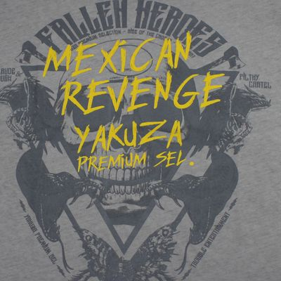 Yakuza Premium T-Shirt VINTAGE 307 grey washed – Bild 3