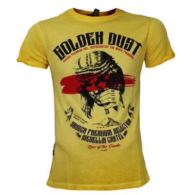 Yakuza Premium T-Shirt VINTAGE 300 yellow washed – Bild 1