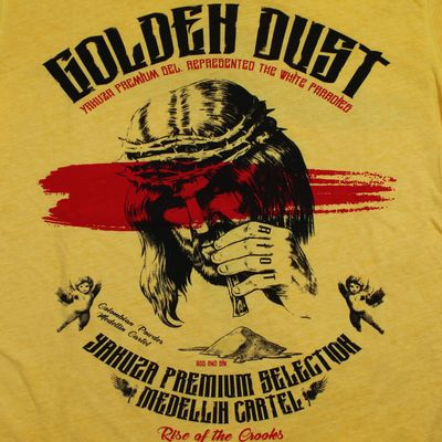 Yakuza Premium t-shirt vintage 300 yellow washed – Bild 3