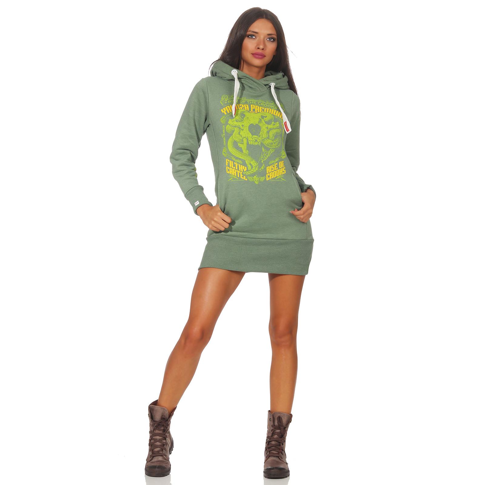 Yakuza Premium Damen Long Sweatshirt 2542 anthra Größe XS bis XL