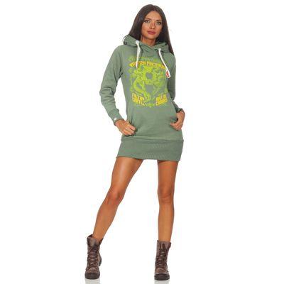 Yakuza Premium Damen Long Sweatshirt GH 2542 grün – Bild 4