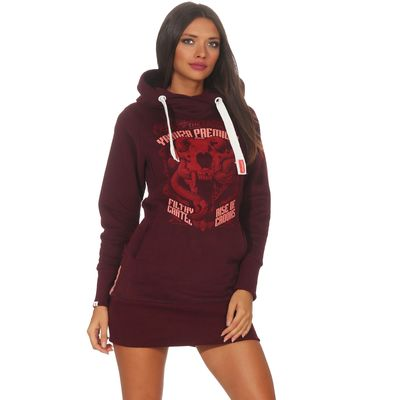 Yakuza Premium women long sweatshirt GH 2542 burgundy – Bild 1