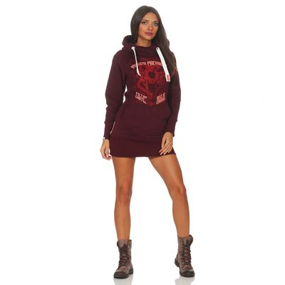 Yakuza Premium women long sweatshirt GH 2542 burgundy – Bild 4