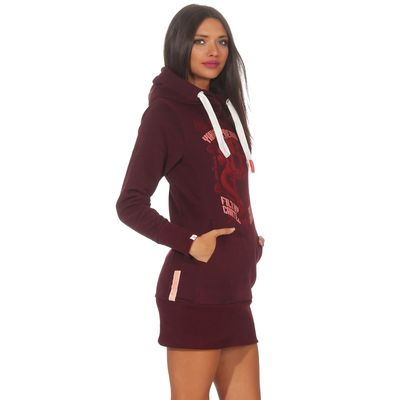 Yakuza Premium women long sweatshirt GH 2542 burgundy – Bild 3