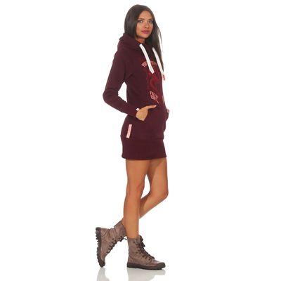 Yakuza Premium Damen Long Sweatshirt GH 2542 burgundy – Bild 6