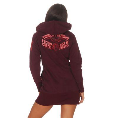 Yakuza Premium Damen Long Sweatshirt GH 2542 burgundy – Bild 2