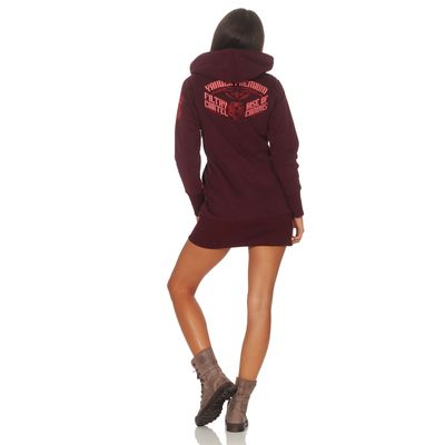 Yakuza Premium women long sweatshirt GH 2542 burgundy – Bild 5