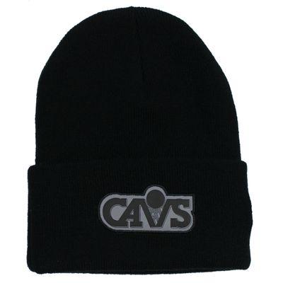 Mitchell & Ness Beanie Wintermütze CLEVELAND CAVALIERS reflective black onesize – Bild 1