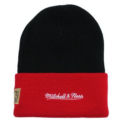 Mitchell & Ness Beanie Wintermütze CHICAGO BULLS team arch black red onesize – Bild 3