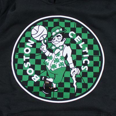M&N Herren NBA Sweatshirt Boston Celtics Fill Logo Hoody schwarz – Bild 2