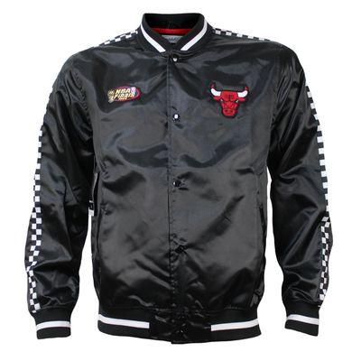 M&N Herren NBA College Jacke Chicago Bulls Satin schwarz – Bild 1