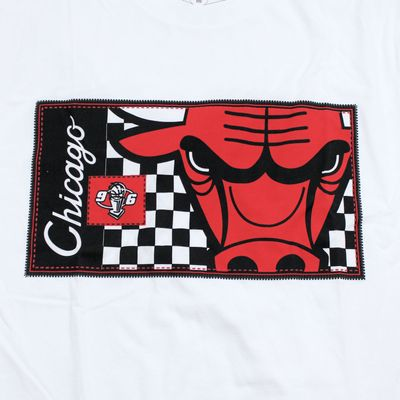 M&N Herren NBA T-Shirt Chicago Bulls Crop white – Bild 2