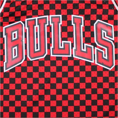 M&N Swingman Jersey Chicago Bulls NBA black red Trikot – Bild 2