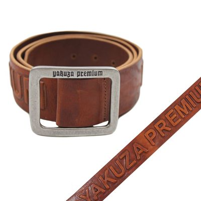 Yakuza Premium belt 2592 cognac brown – Bild 1