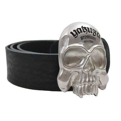 Yakuza Premium Leder Gürtel 2591 schwarz – Bild 1