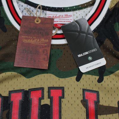 M&N Swingman Jersey DENNIS RODMAN Chicago Bulls 97-98 NBA Trikot camo – Bild 5