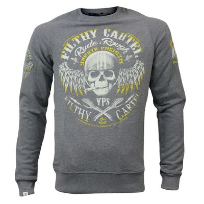 Yakuza Premium men sweater YPP 2624 grey round neck – Bild 1