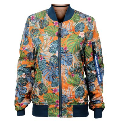 Alpha Industries Damen Fliegerjacke MA-1 VF Jungle wmn flame orange – Bild 1