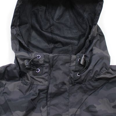 Alpha Industries LW Anorak Teflon Windbreaker black camo – Bild 5