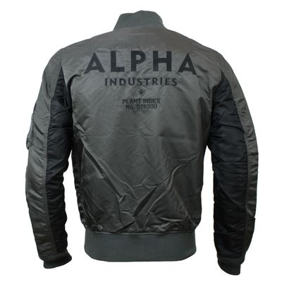 Alpha Industries Fliegerjacke MA-1 TT Costum grey black – Bild 2