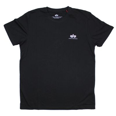 Alpha Industries T-Shirt Basic Small Logo black – Bild 1