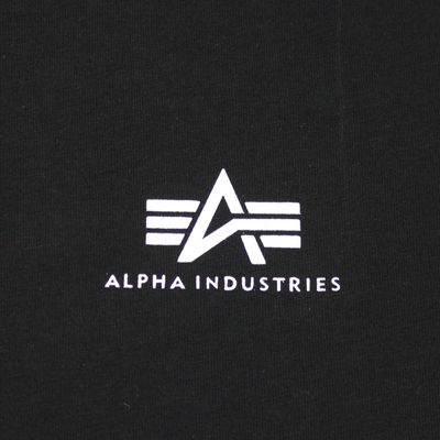Alpha Industries T-Shirt Basic Small Logo black – Bild 2