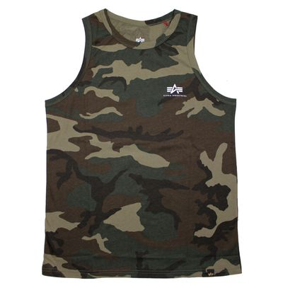 Alpha Industries Small Logo Tank Top woodland camo – Bild 1