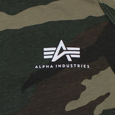 Alpha Industries Small Logo Tank Top woodland camo – Bild 2