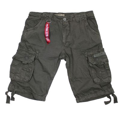 Alpha Industries Jet Short greyblack Cargo Shorts – Bild 1