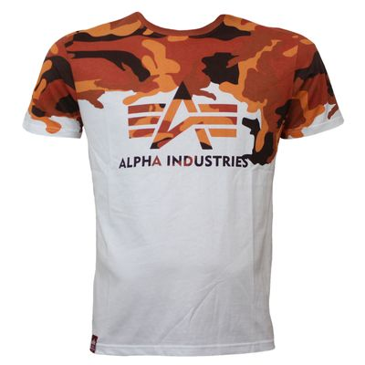 Alpha Industries T-Shirt Lost Camo orange camouflage – Bild 1
