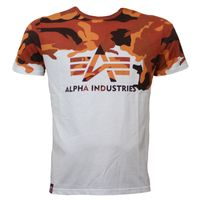 Alpha Industries T-Shirt Lost Camo orange camouflage 001