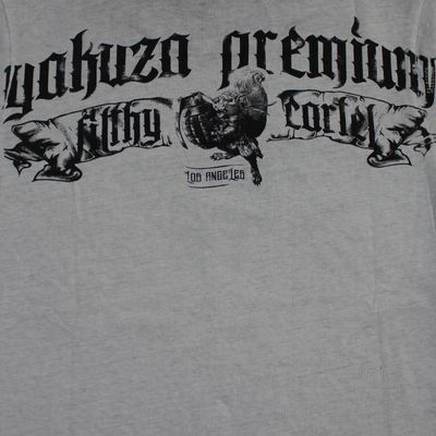 Yakuza Premium T-Shirt VINTAGE 400 grey washed – Bild 4