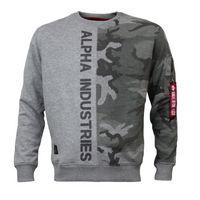 Alpha Industries Pullover Camo Half Sweater grey camo 001