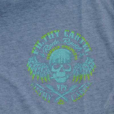 Yakuza Premium t-shirt vintage 405 blue washed – Bild 3