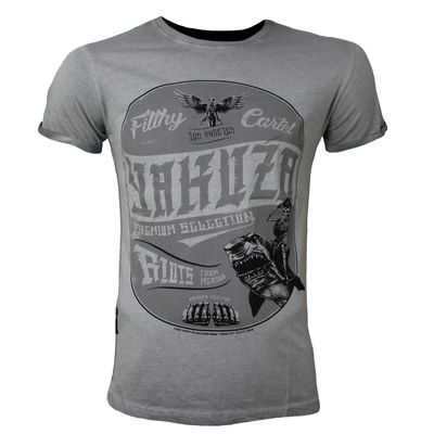 Yakuza Premium T-Shirt VINTAGE 403 grey washed – Bild 1