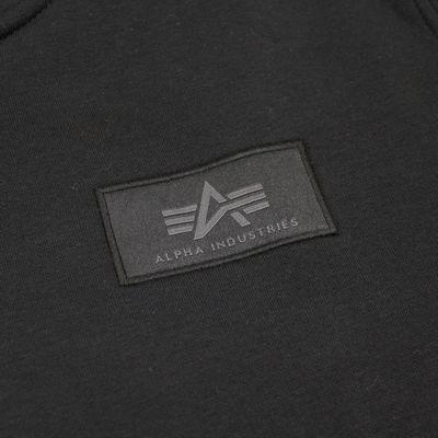 Alpha Industries Sweatshirt BACK PRINT HOODY black gold – Bild 4