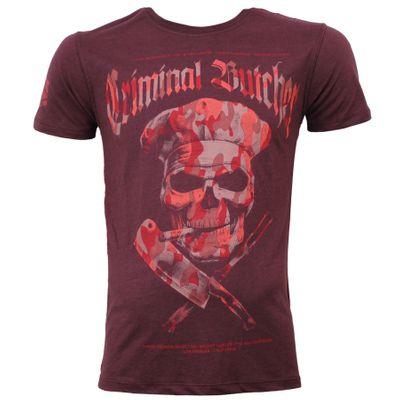 Yakuza Premium men t-shirt YPS 2700 burgundy – Image 1