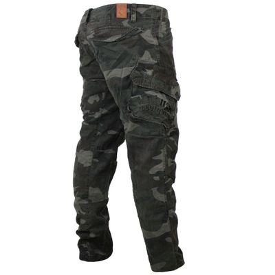 Yakuza Premium men cargo pants NOS 2666 black camo – Image 1