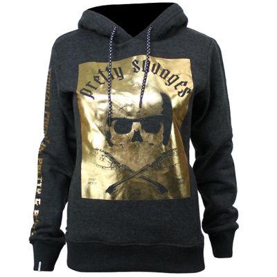 Yakuza Premium Damen Kapuzenjacke Hoodie Weste Skull Pretty Savages Blau 5086