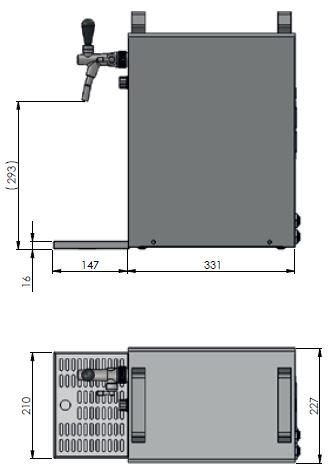 Zapfanlage K 40/K 1-leitig aus Edelstahl, 50 Liter/h, mit Membranpumpe,Bierzapfanlage – Bild 5