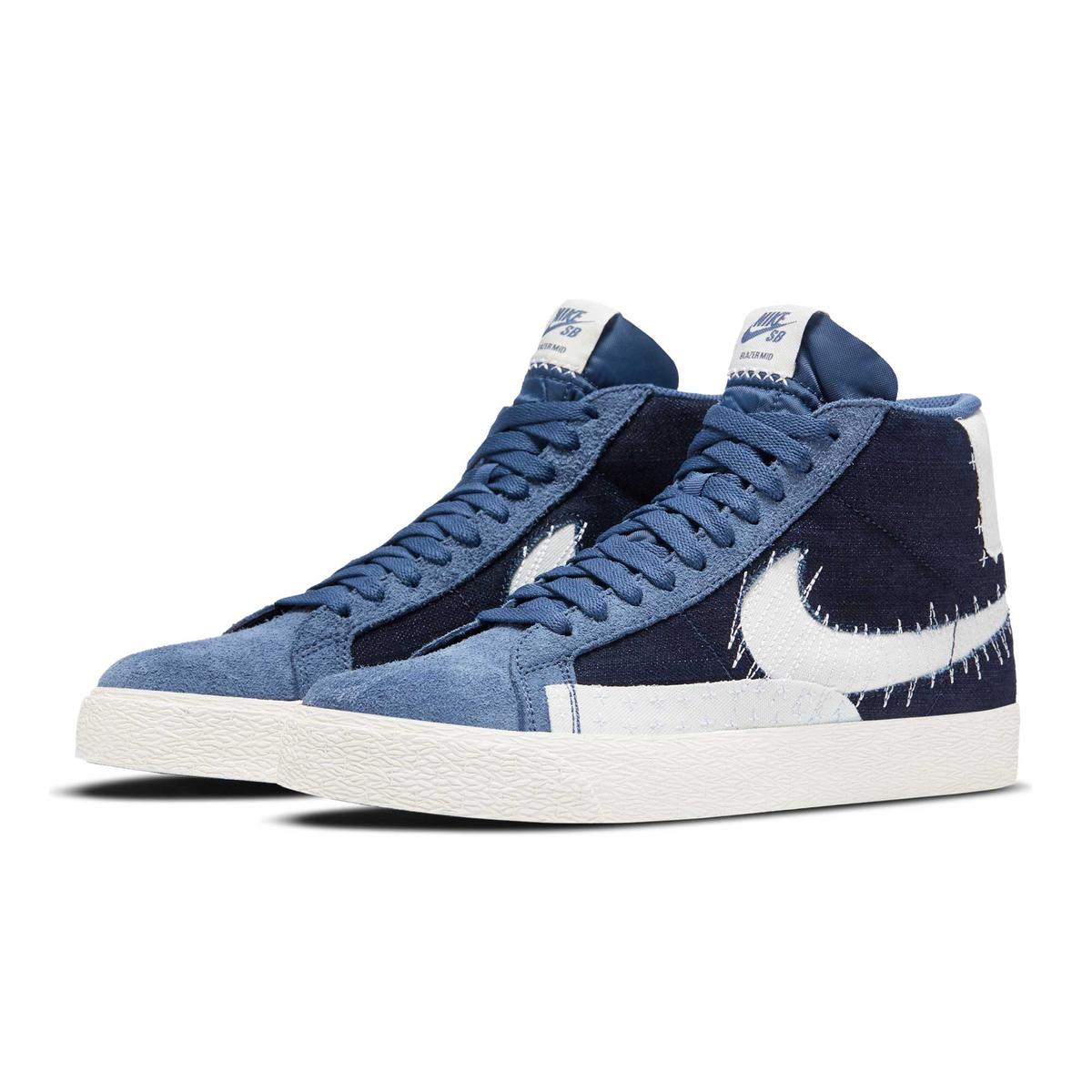 Nike SB Sneaker Zoom Blazer Mid Edge Premium Sashiko Blau