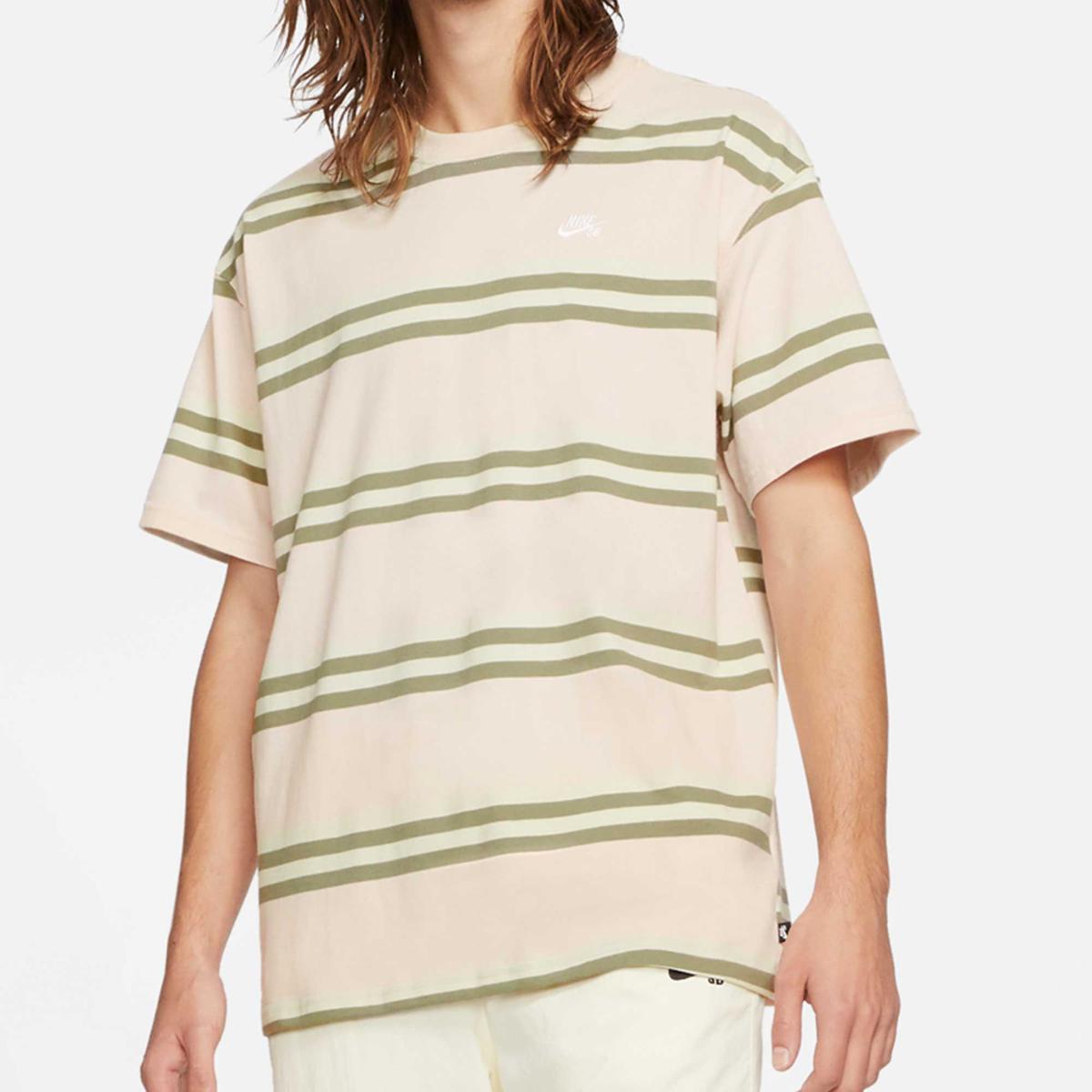 Nike SB T-Shirt Striped Rosa